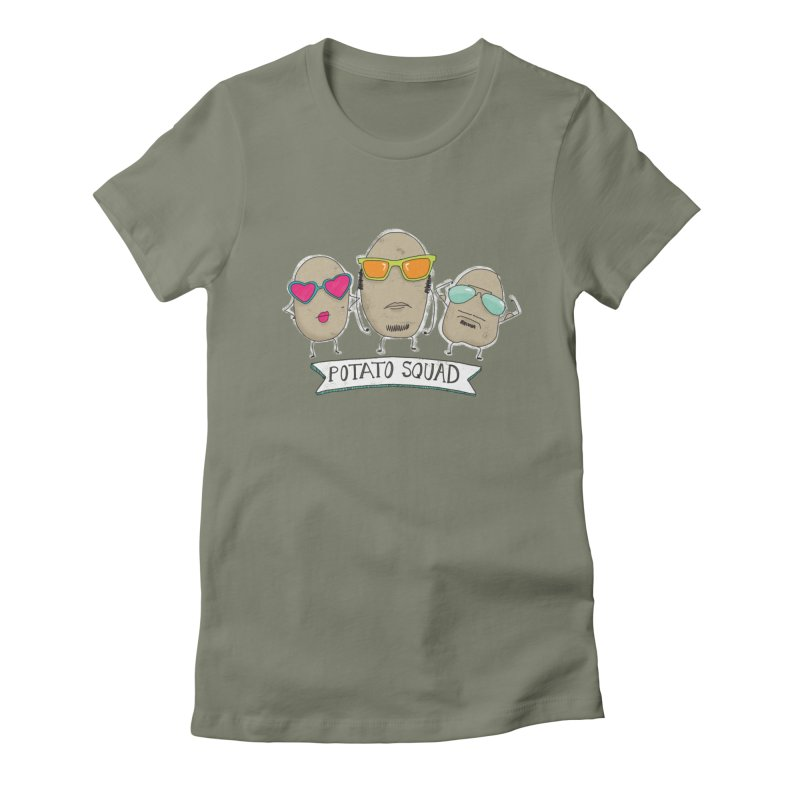 Potato Squad Women's Fitted T-Shirt by Potato Wisdom's Artist Shop
