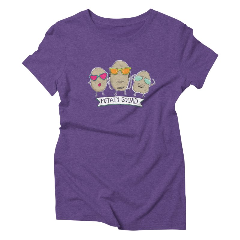Potato Squad Women's Triblend T-Shirt by Potato Wisdom's Artist Shop