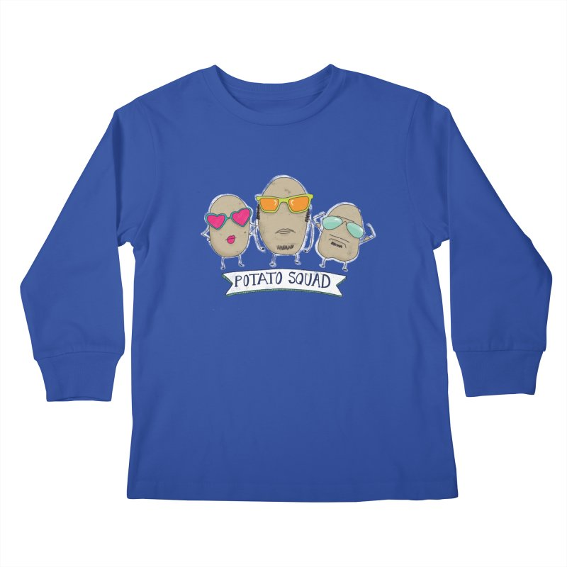 Potato Squad Kids Longsleeve T-Shirt by Potato Wisdom's Artist Shop