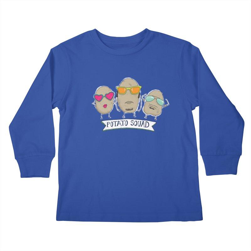 Potato Squad Kids Longsleeve T-Shirt by Potato Wisdom's Artist Shop
