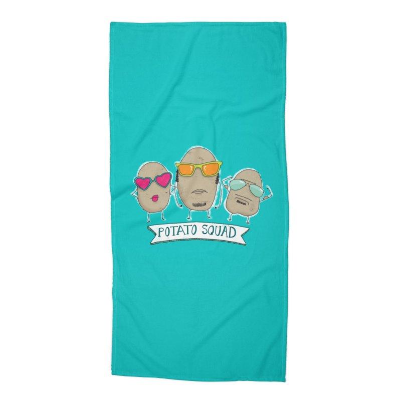 Potato Squad Accessories Beach Towel by Potato Wisdom's Artist Shop