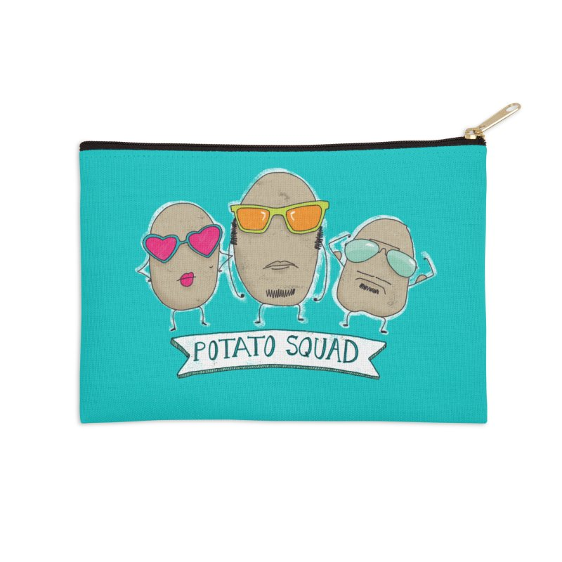 Potato Squad Accessories Zip Pouch by Potato Wisdom's Artist Shop