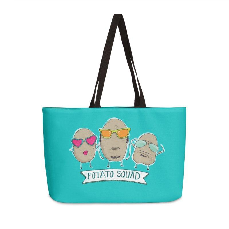 Potato Squad Accessories Weekender Bag Bag by Potato Wisdom's Artist Shop