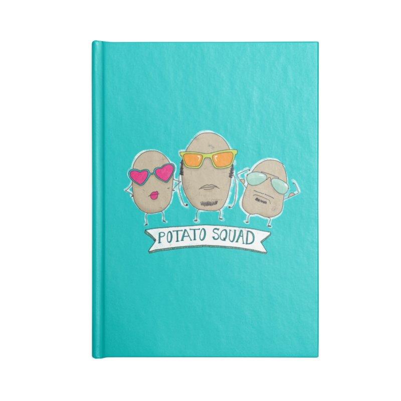 Potato Squad Accessories Lined Journal Notebook by Potato Wisdom's Artist Shop