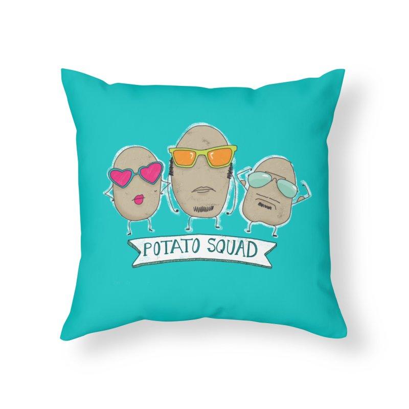 Potato Squad Home Throw Pillow by Potato Wisdom's Artist Shop