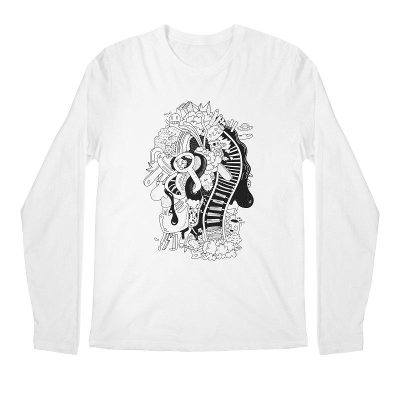 Your head is a beautiful mess Men's Longsleeve T-Shirt by BANANODROMO