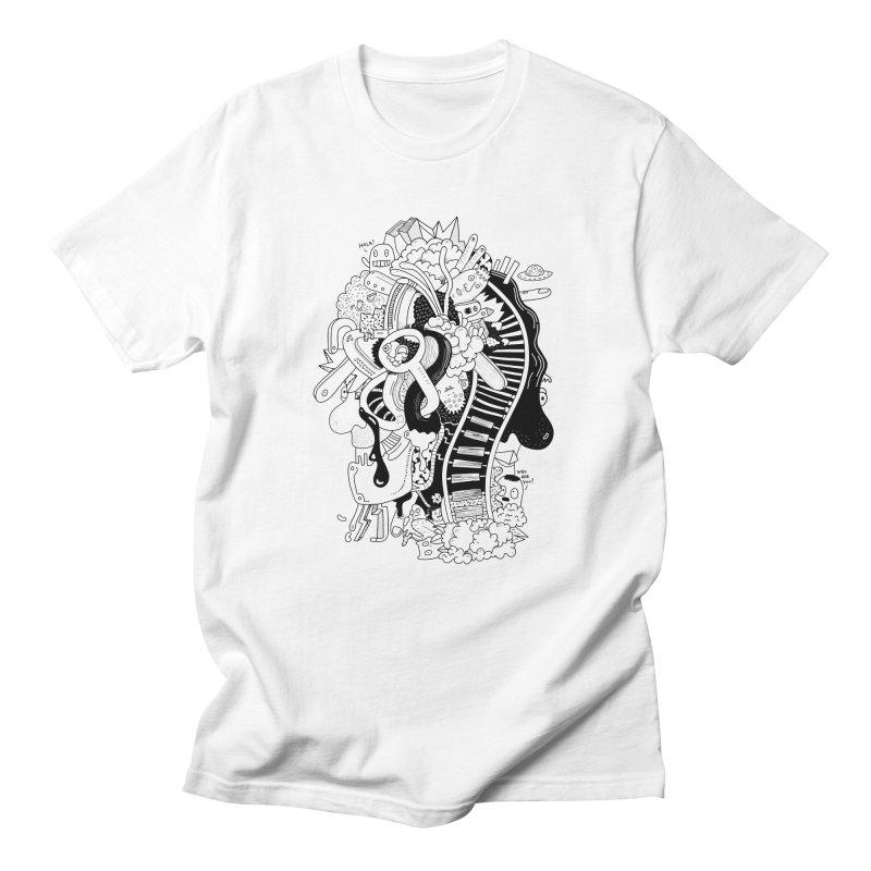 Your head is a beautiful mess Women's Unisex T-Shirt by BANANODROMO