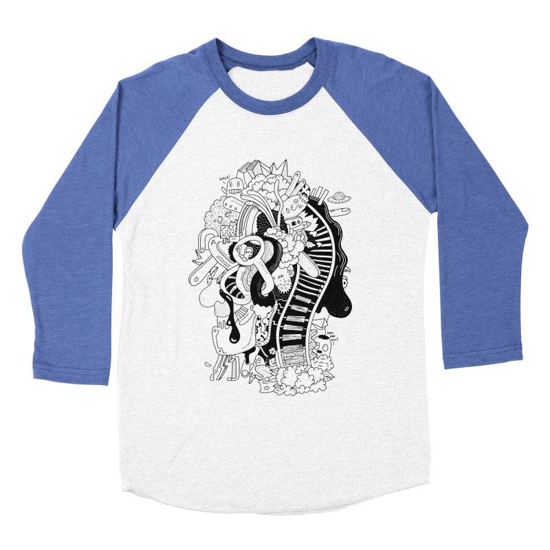 Your head is a beautiful mess Women's Baseball Triblend T-Shirt by BANANODROMO
