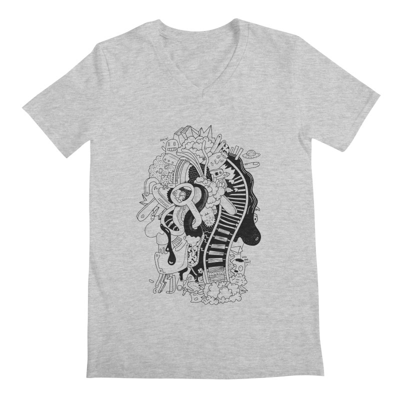 Your head is a beautiful mess Men's V-Neck by BANANODROMO