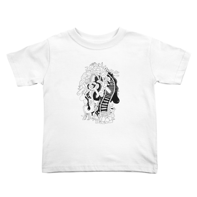 Your head is a beautiful mess Kids Toddler T-Shirt by BANANODROMO