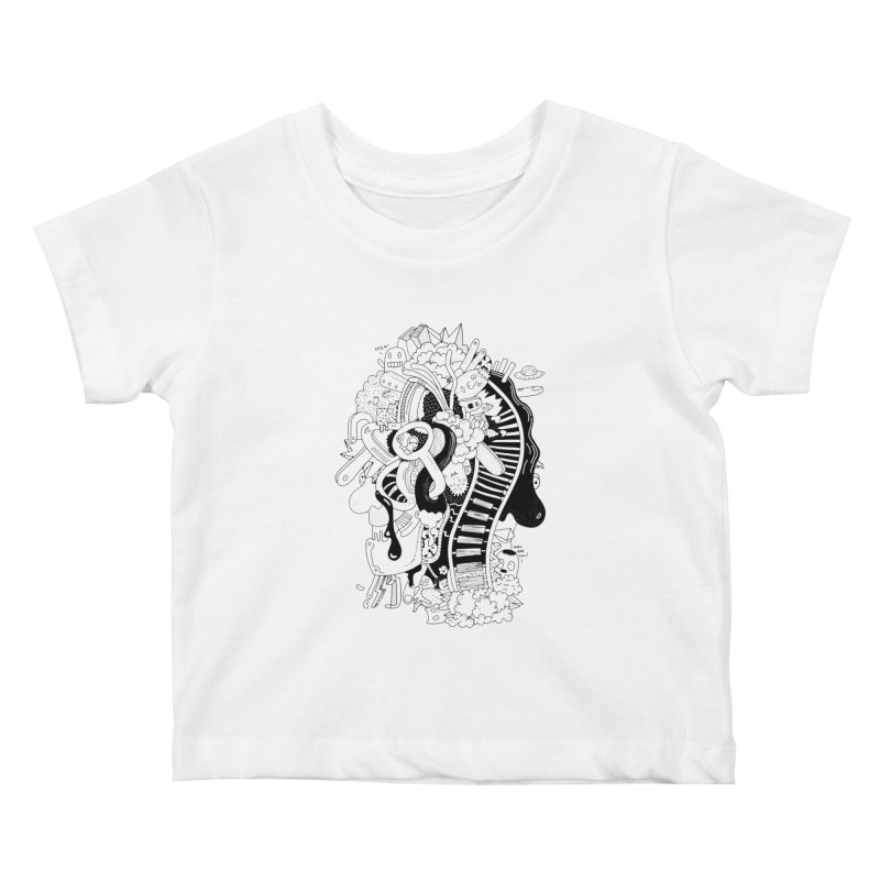 Your head is a beautiful mess Kids Baby T-Shirt by BANANODROMO