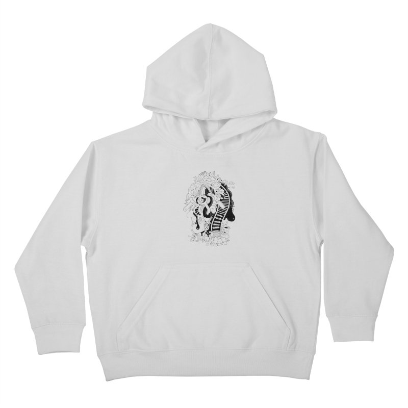 Your head is a beautiful mess Kids Pullover Hoody by BANANODROMO