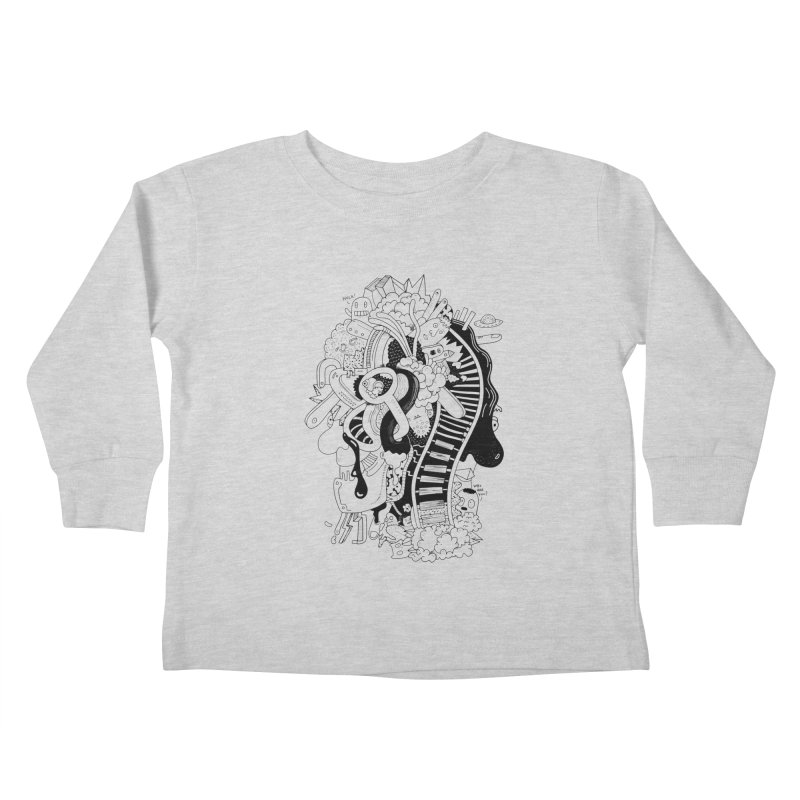 Your head is a beautiful mess Kids Toddler Longsleeve T-Shirt by BANANODROMO