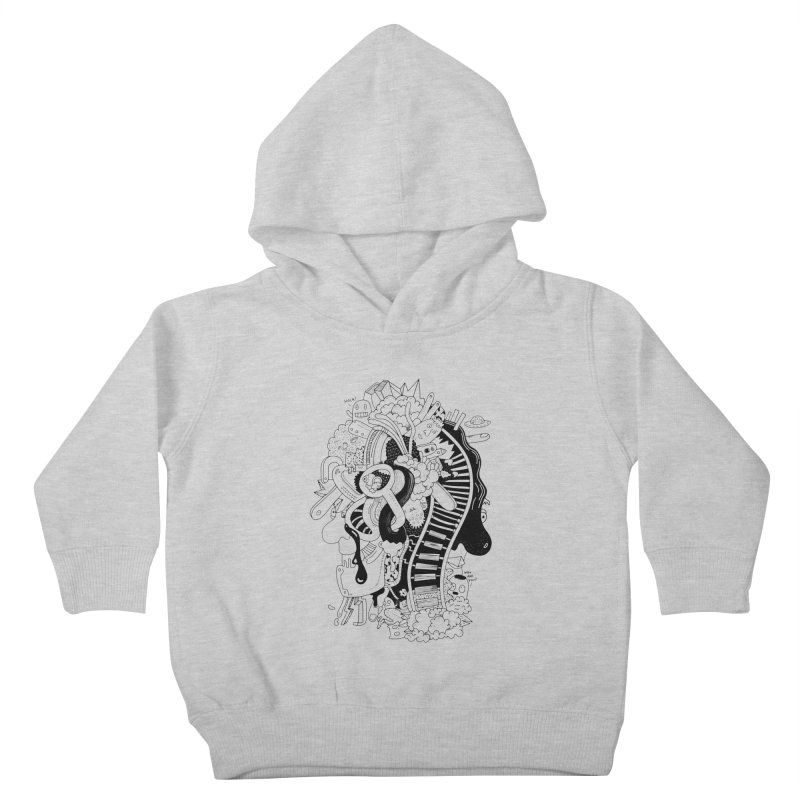 Your head is a beautiful mess Kids Toddler Pullover Hoody by BANANODROMO