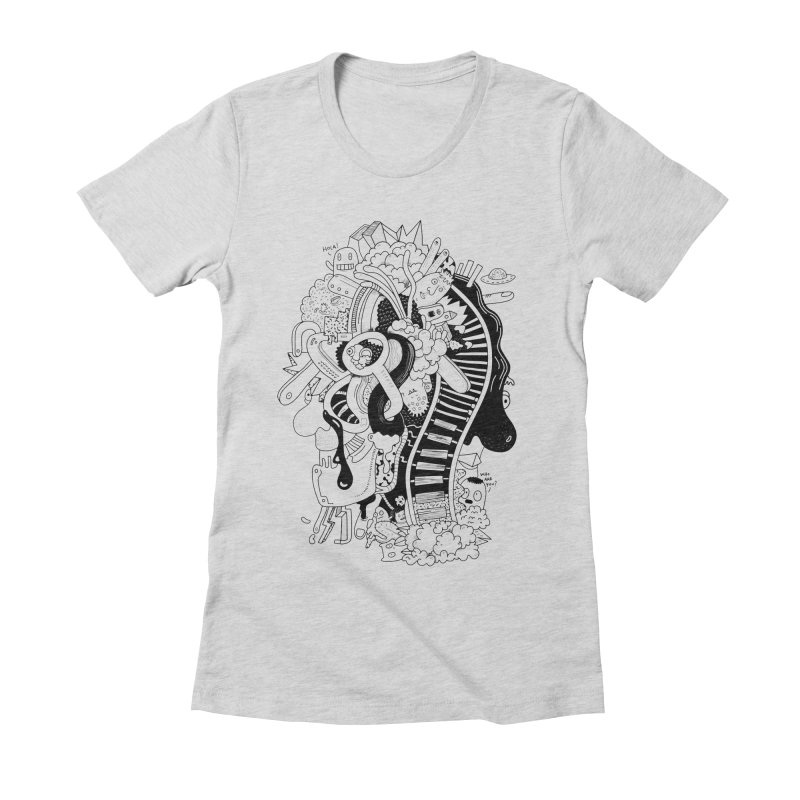 Your head is a beautiful mess Women's Fitted T-Shirt by BANANODROMO