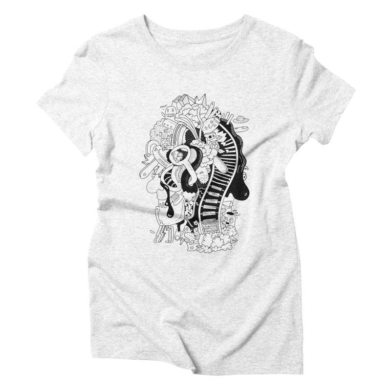 Your head is a beautiful mess Women's Triblend T-shirt by BANANODROMO