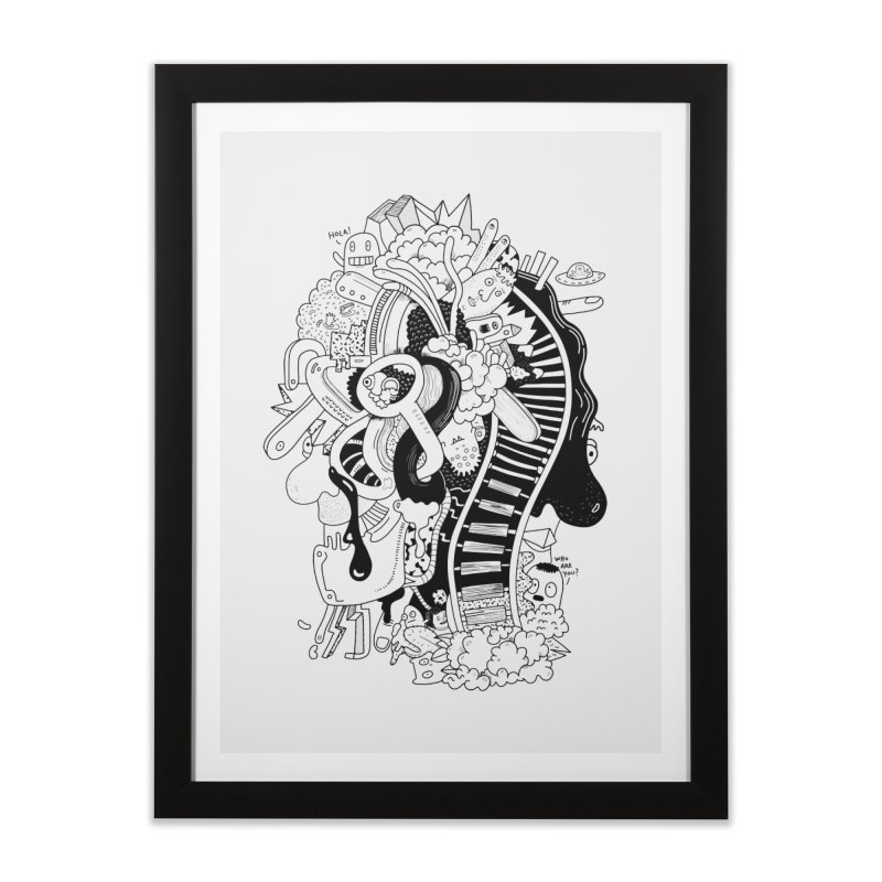Your head is a beautiful mess Home Framed Fine Art Print by BANANODROMO