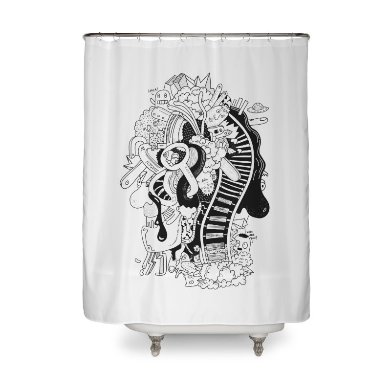 Your head is a beautiful mess Home Shower Curtain by BANANODROMO