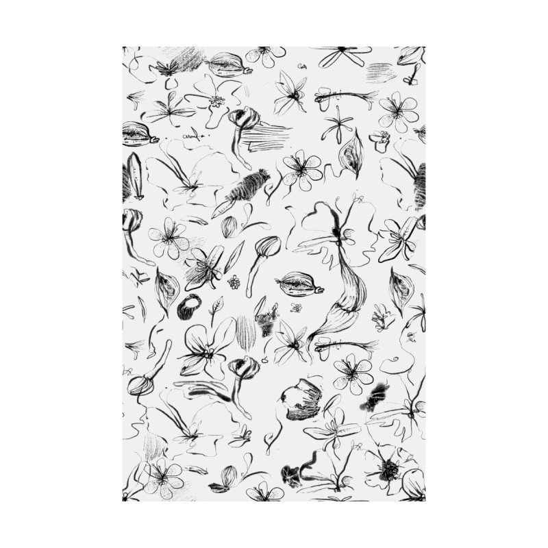 Ink Floral Pattern Abstract by BANANODROMO