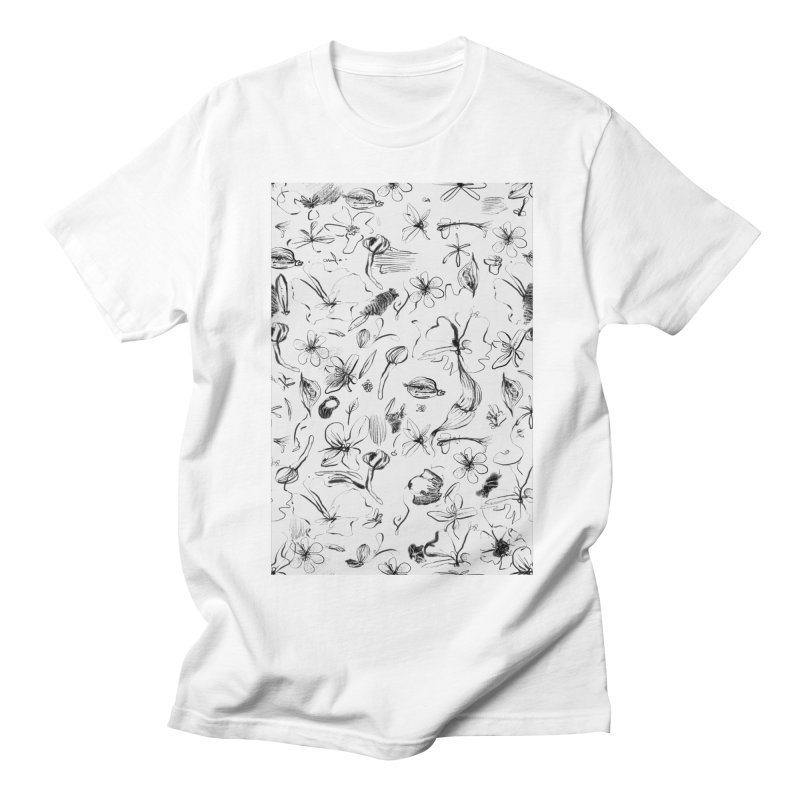 Ink Floral Pattern Abstract Women's Unisex T-Shirt by BANANODROMO