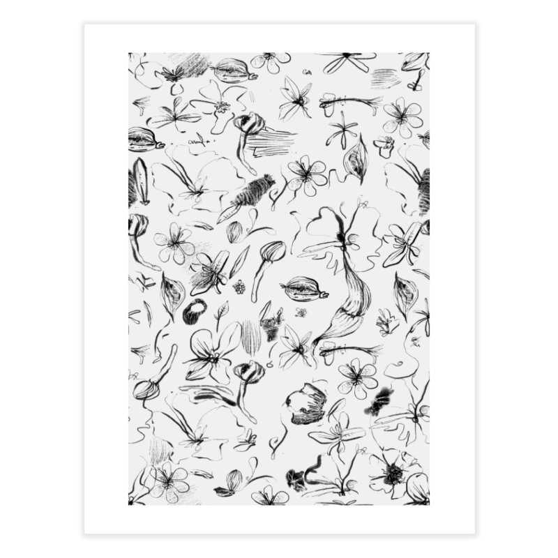 Ink Floral Pattern Abstract Home Fine Art Print by BANANODROMO