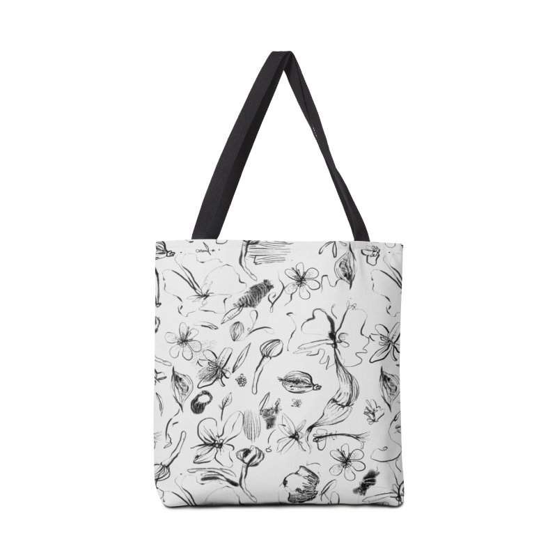Ink Floral Pattern Abstract Accessories Bag by BANANODROMO