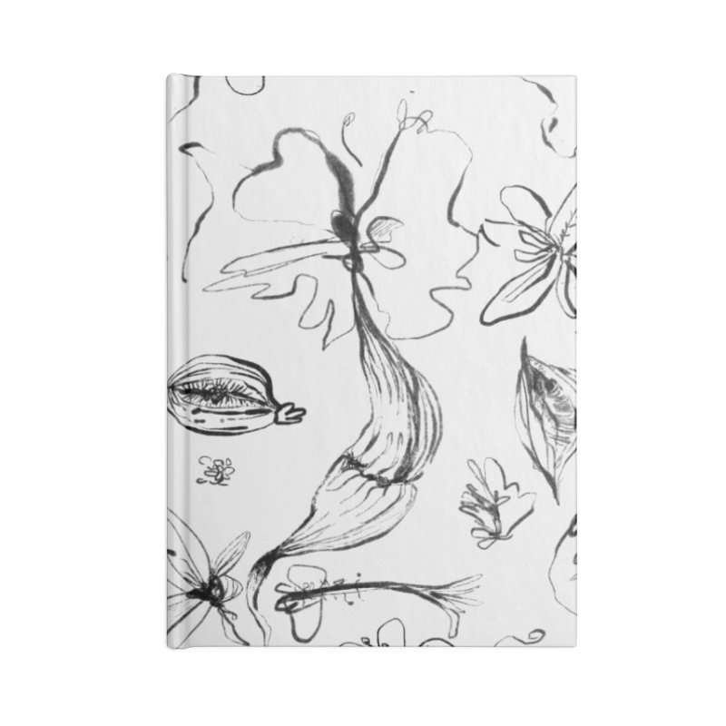 Ink Floral Pattern Abstract Accessories Notebook by BANANODROMO