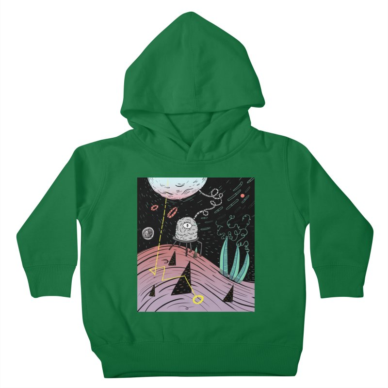 Superboles H4: a space adventure Kids Toddler Pullover Hoody by BANANODROMO