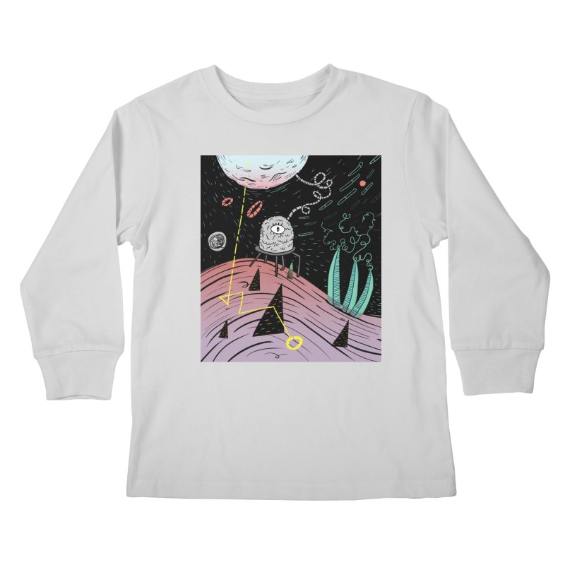 Superboles H4: a space adventure Kids Longsleeve T-Shirt by BANANODROMO
