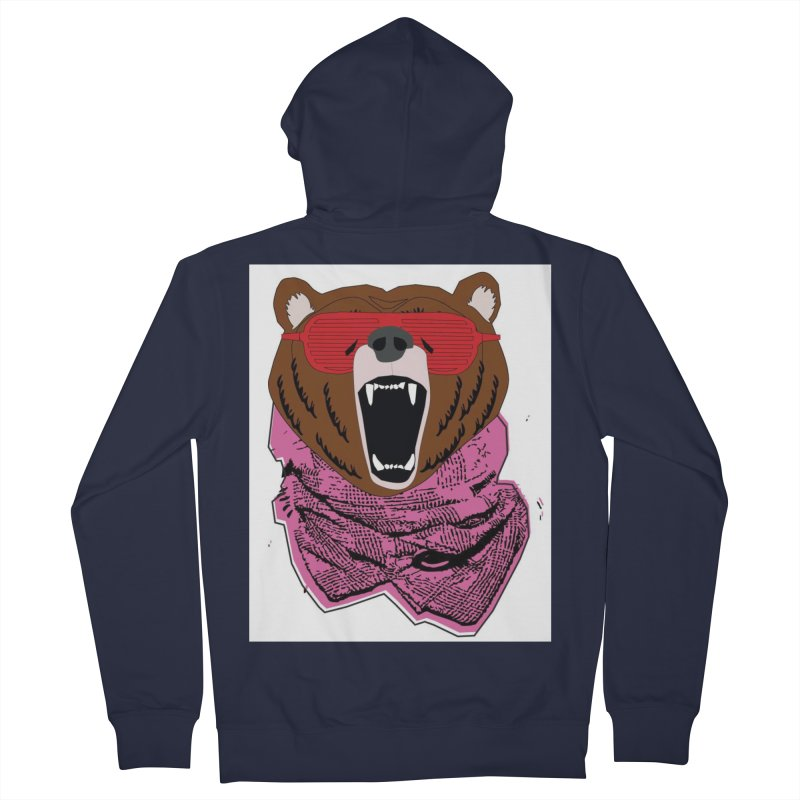 bear with shades Women's Zip-Up Hoody by bansom12's Artist Shop