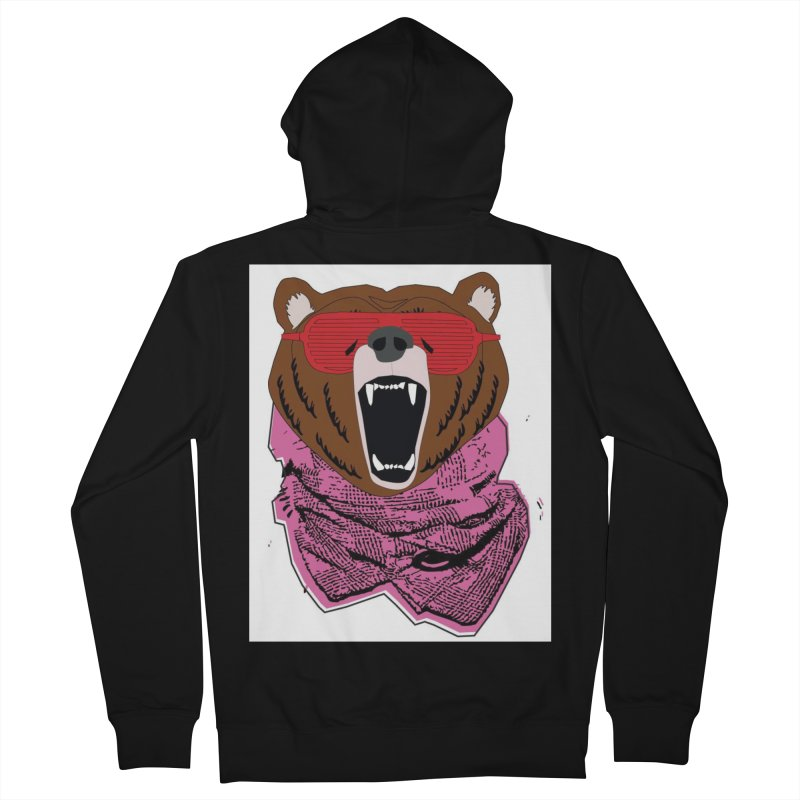 bear with shades Men's Zip-Up Hoody by bansom12's Artist Shop