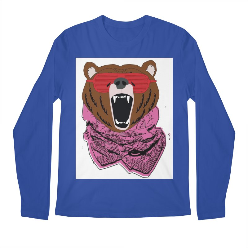 bear with shades Men's Longsleeve T-Shirt by bansom12's Artist Shop