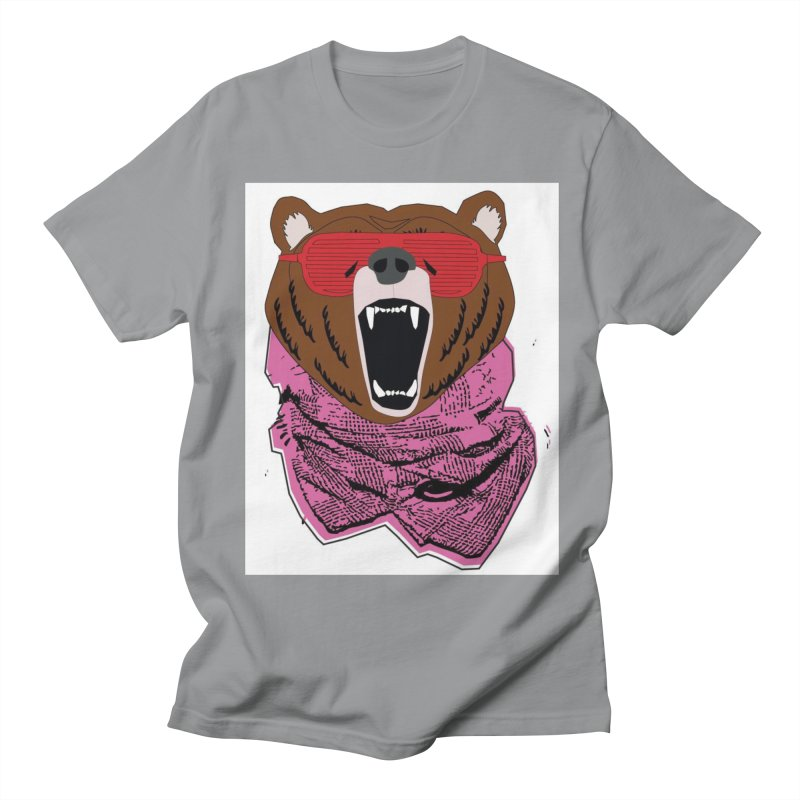 bear with shades Men's T-shirt by bansom12's Artist Shop