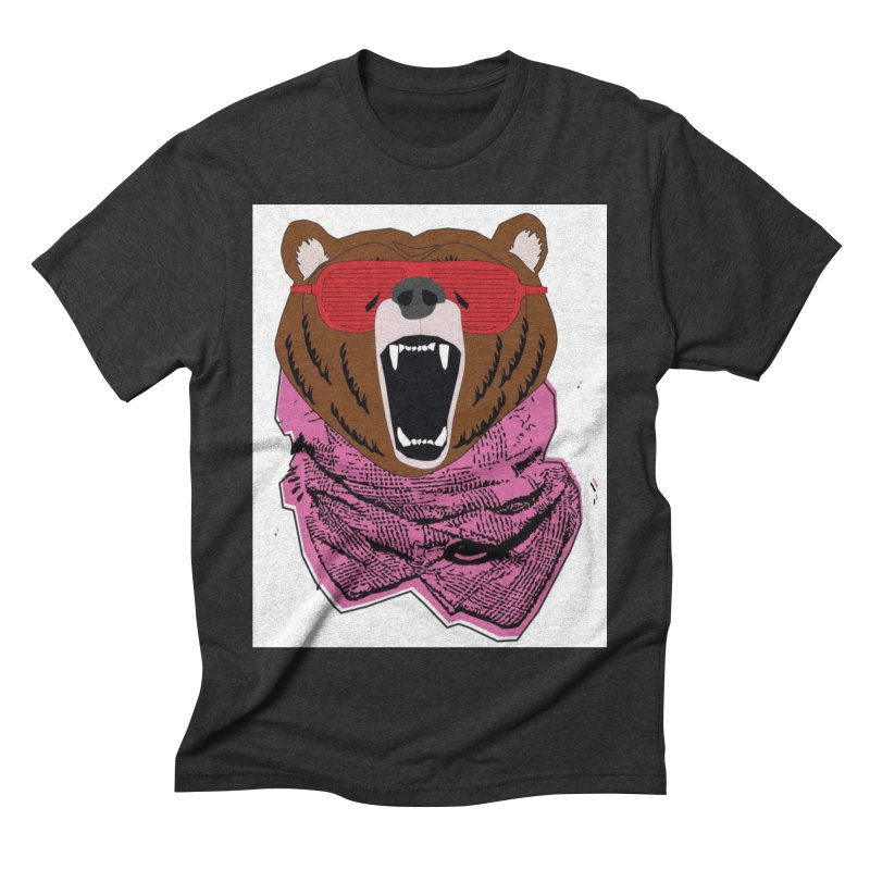 bear with shades Men's Triblend T-shirt by bansom12's Artist Shop