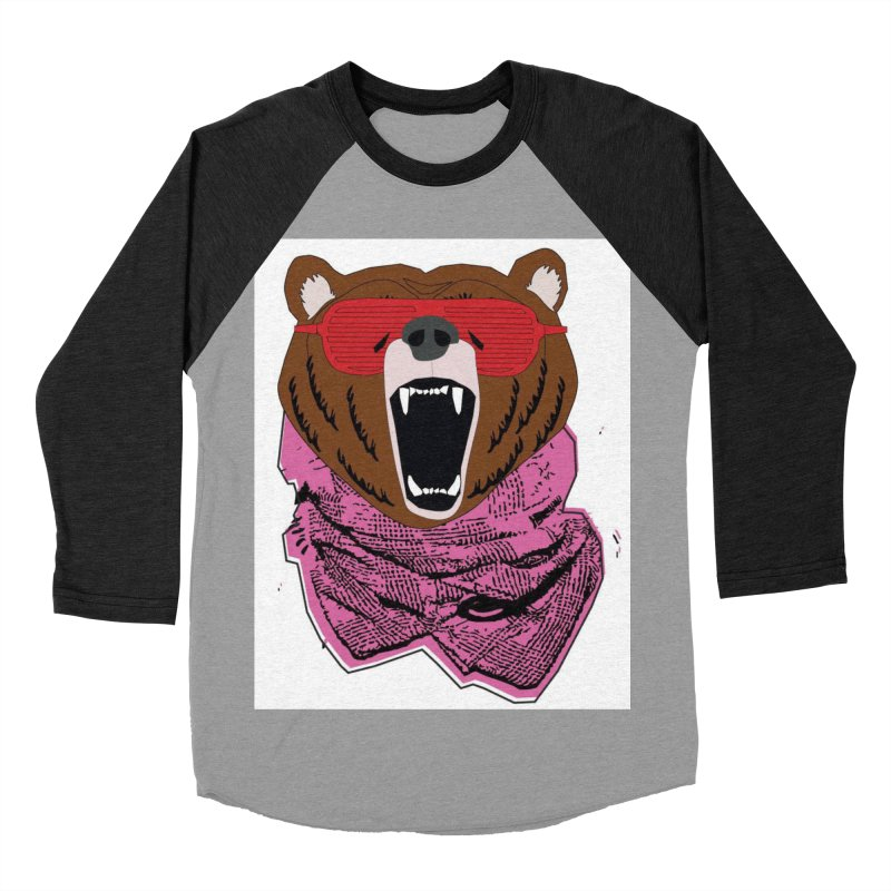 bear with shades Men's Baseball Triblend T-Shirt by bansom12's Artist Shop