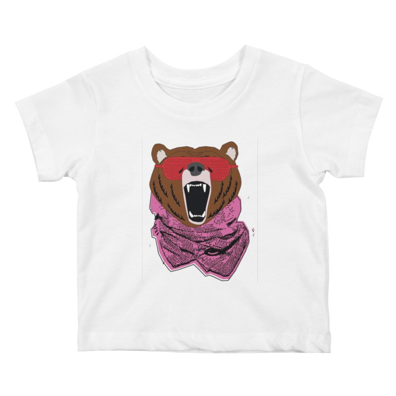 bear with shades Kids Baby T-Shirt by bansom12's Artist Shop