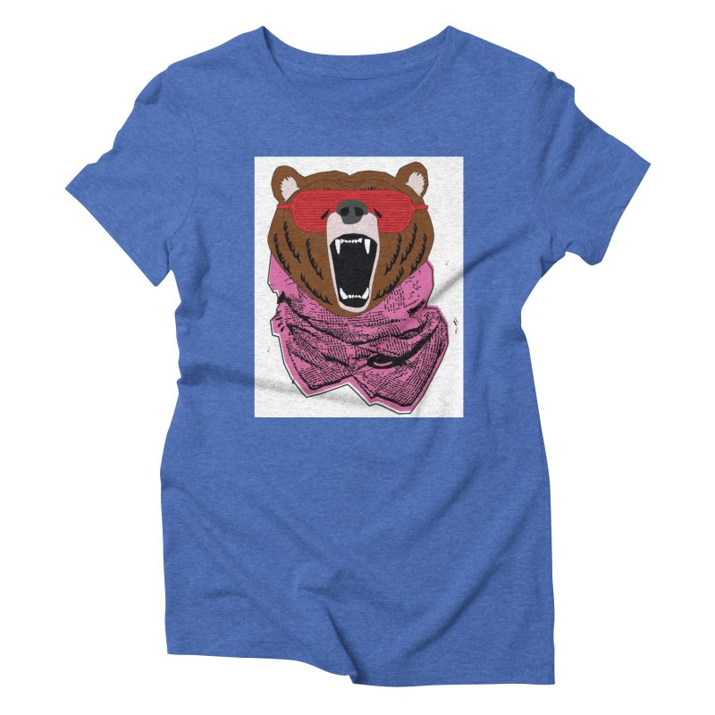 bear with shades Women's Triblend T-shirt by bansom12's Artist Shop