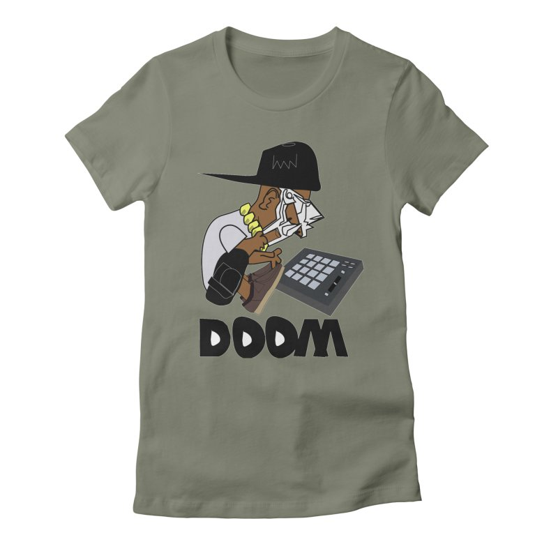 doom on the keys  Women's Fitted T-Shirt by bansom12's Artist Shop