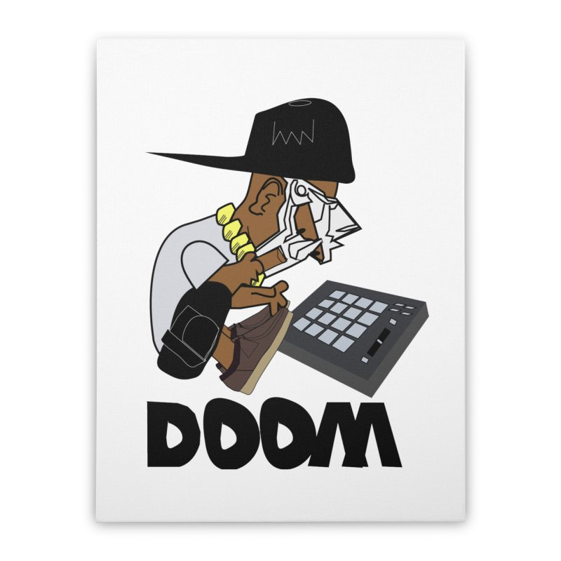 doom on the keys  Home Stretched Canvas by bansom12's Artist Shop
