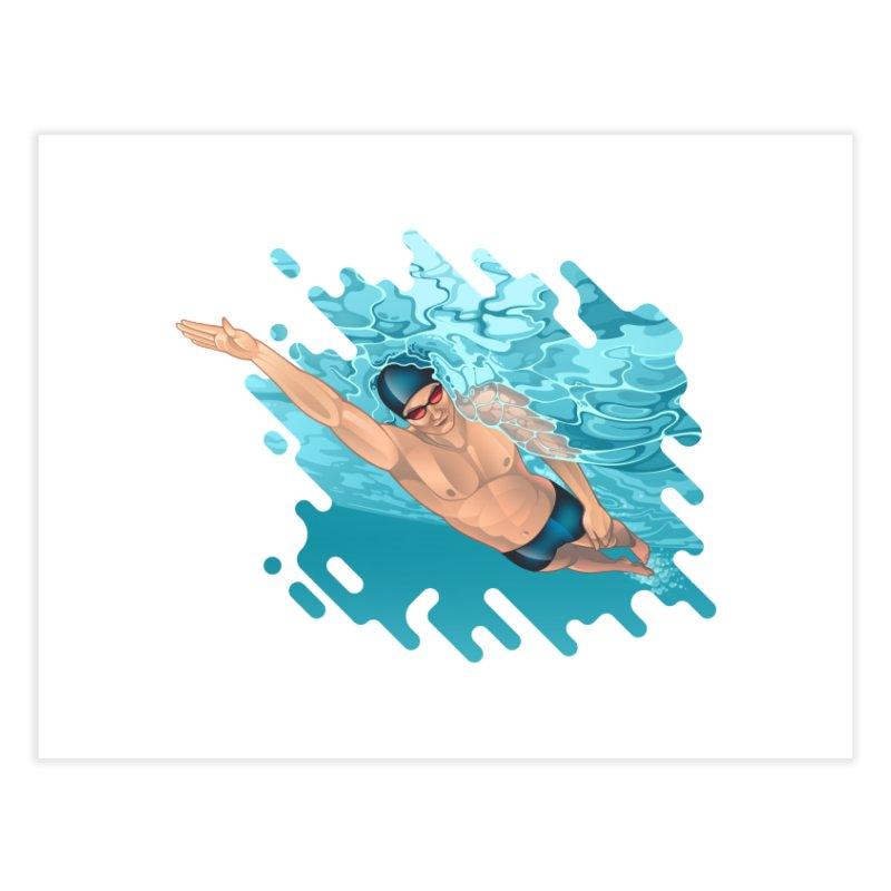 Super Swimmer Home Fine Art Print by Barbara Gambini's Artist Shop