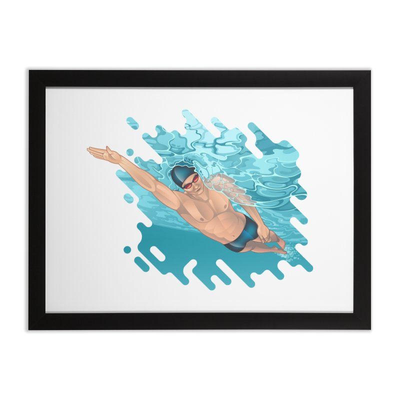 Super Swimmer Home Framed Fine Art Print by Barbara Gambini's Artist Shop