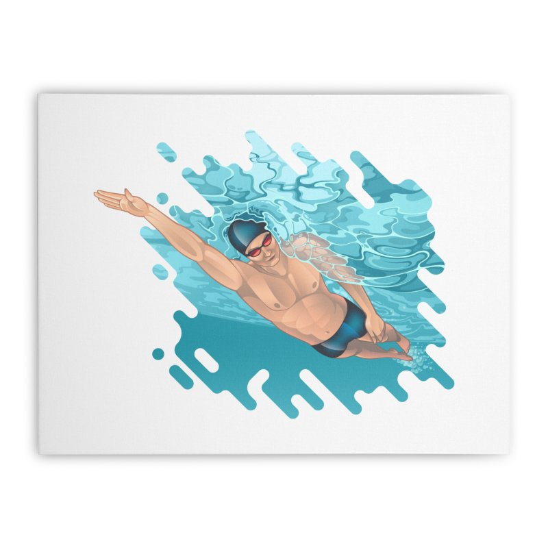Super Swimmer Home Stretched Canvas by Barbara Gambini's Artist Shop