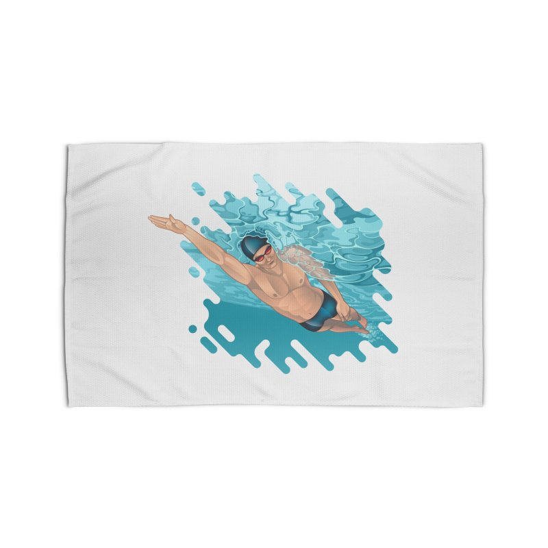 Super Swimmer Home Rug by Barbara Gambini's Artist Shop