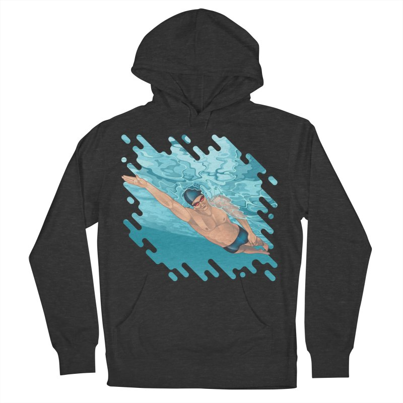 Super Swimmer Women's Pullover Hoody by Barbara Gambini's Artist Shop