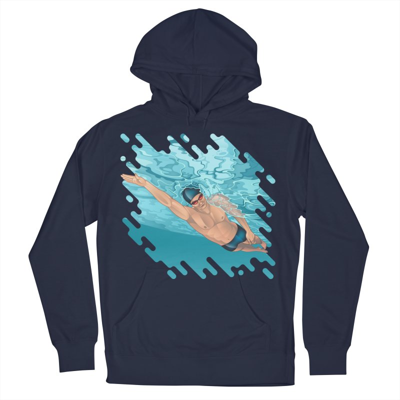 Super Swimmer Men's Pullover Hoody by Barbara Gambini's Artist Shop