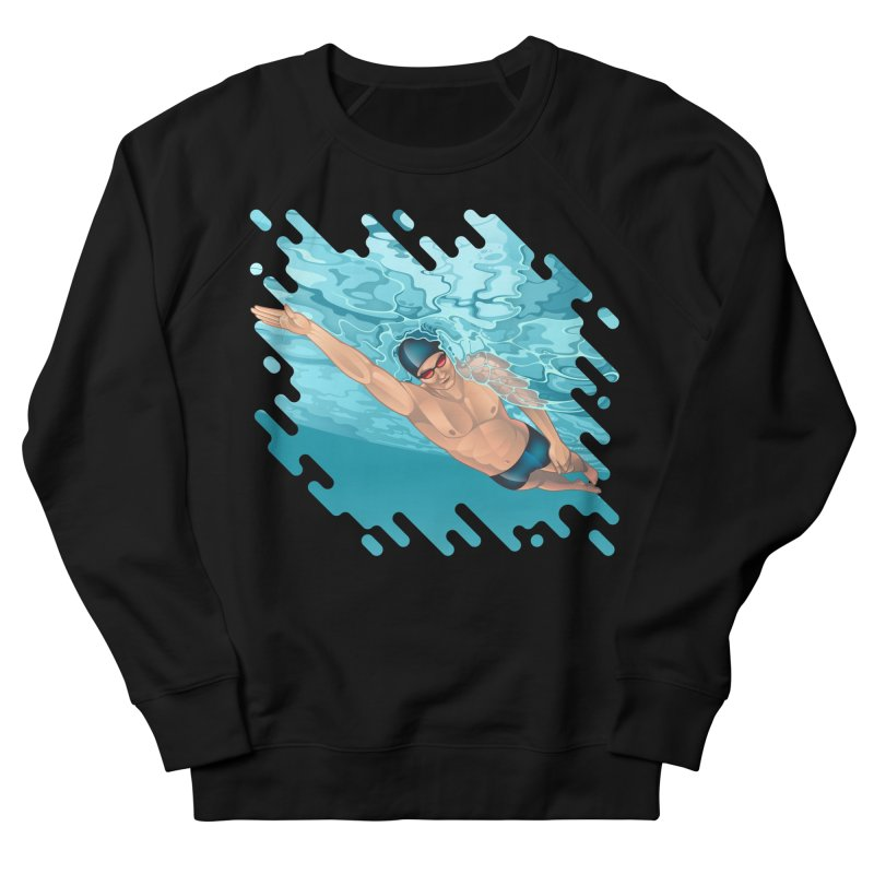 Super Swimmer Women's Sweatshirt by Barbara Gambini's Artist Shop