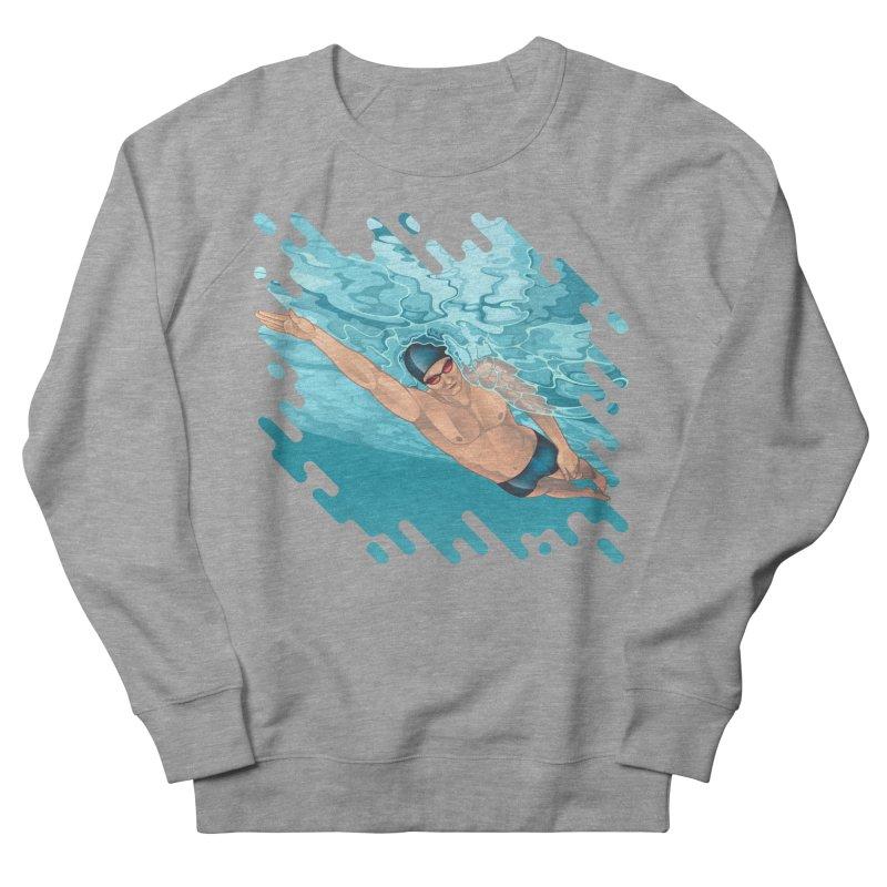 Super Swimmer Men's Sweatshirt by Barbara Gambini's Artist Shop