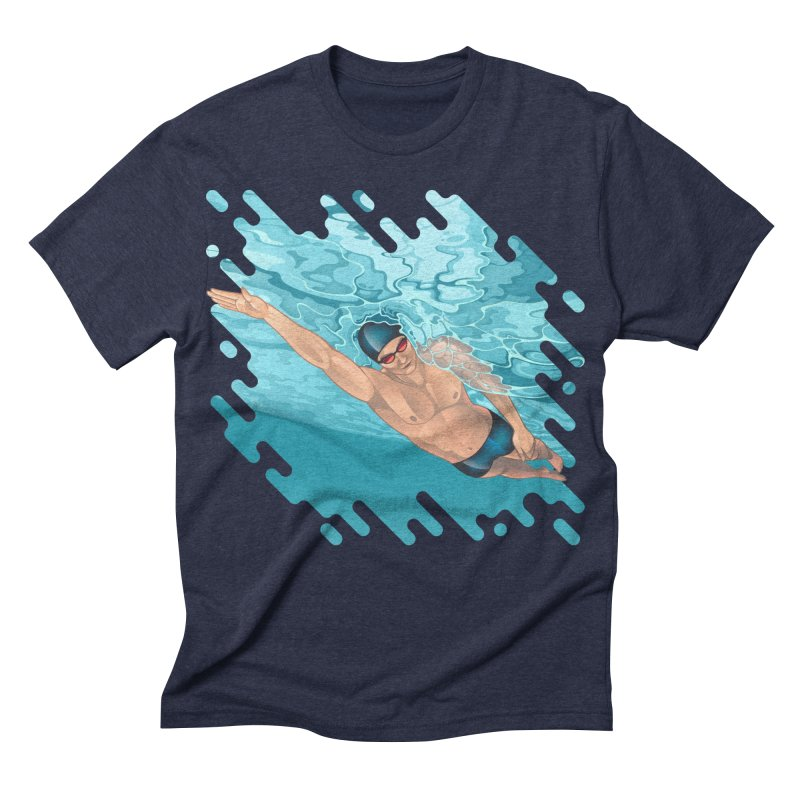 Super Swimmer Men's Triblend T-shirt by Barbara Gambini's Artist Shop