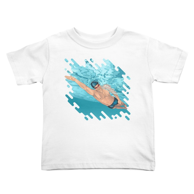 Super Swimmer Kids Toddler T-Shirt by Barbara Gambini's Artist Shop
