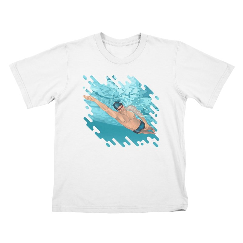 Super Swimmer Kids T-shirt by Barbara Gambini's Artist Shop